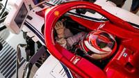 Kimi Räikkönen v tréninku v Silverstone
