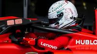 Sebastian Vettel po kvalifikaci v Silverstone