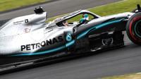 Lewis Hamilton v kvalifikaci v Silverstone