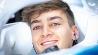 George Russell v kvalifikaci v Silverstone