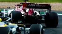 Kimi v závodě v Silverstone