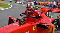 Charles Leclerc po závodě v Silverstone