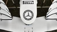 Speciální slavnostní zbarvení Mercedesu F1 W10 EQ Power+ pro závodní víkend v Německu
