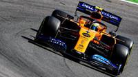 Lando Norris s McLarenem MCL34
