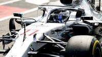 Valtteri Bottas s Mercedesem W10 během 1. trénink v Německu