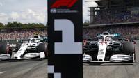 Valtteri Bottas a Lewis Hamilton po kvalifikaci v Německu