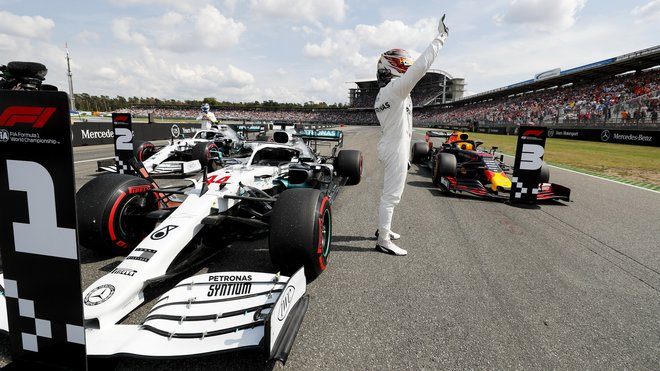 Lewis Hamilton po kvalifikaci v Německu