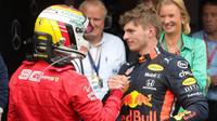 Max Verstappen a Sebastian Vettel po závodě v Německu