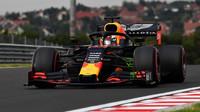 Max Verstappen s Red Bullem RB15 na Hungaroringu
