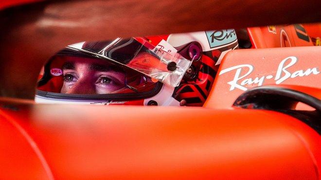 Charles Leclerc v kvalifikaci v Maďarsku