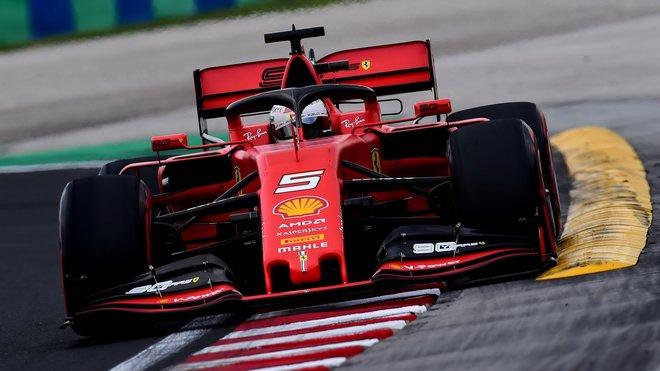 Sebastian Vettel v kvalifikaci na Velkou cenu Maďarska 2019