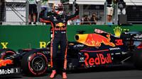 Max Verstappen po vyhrané kvalifikaci v Maďarsku