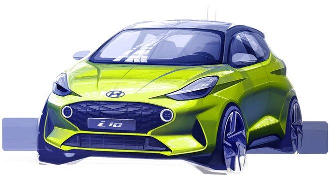 Hyundai představil první skicu zcela nového i10