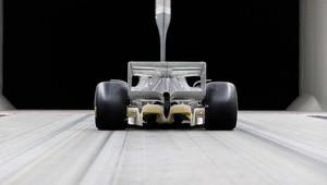 FOTO: Budoucnost F1 v aerodynamickém tunelu - v Hinwilu už testují vůz pro rok 2021 - anotační obrázek