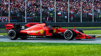 Sebastian Vettel v závodě v Itálii na Monze