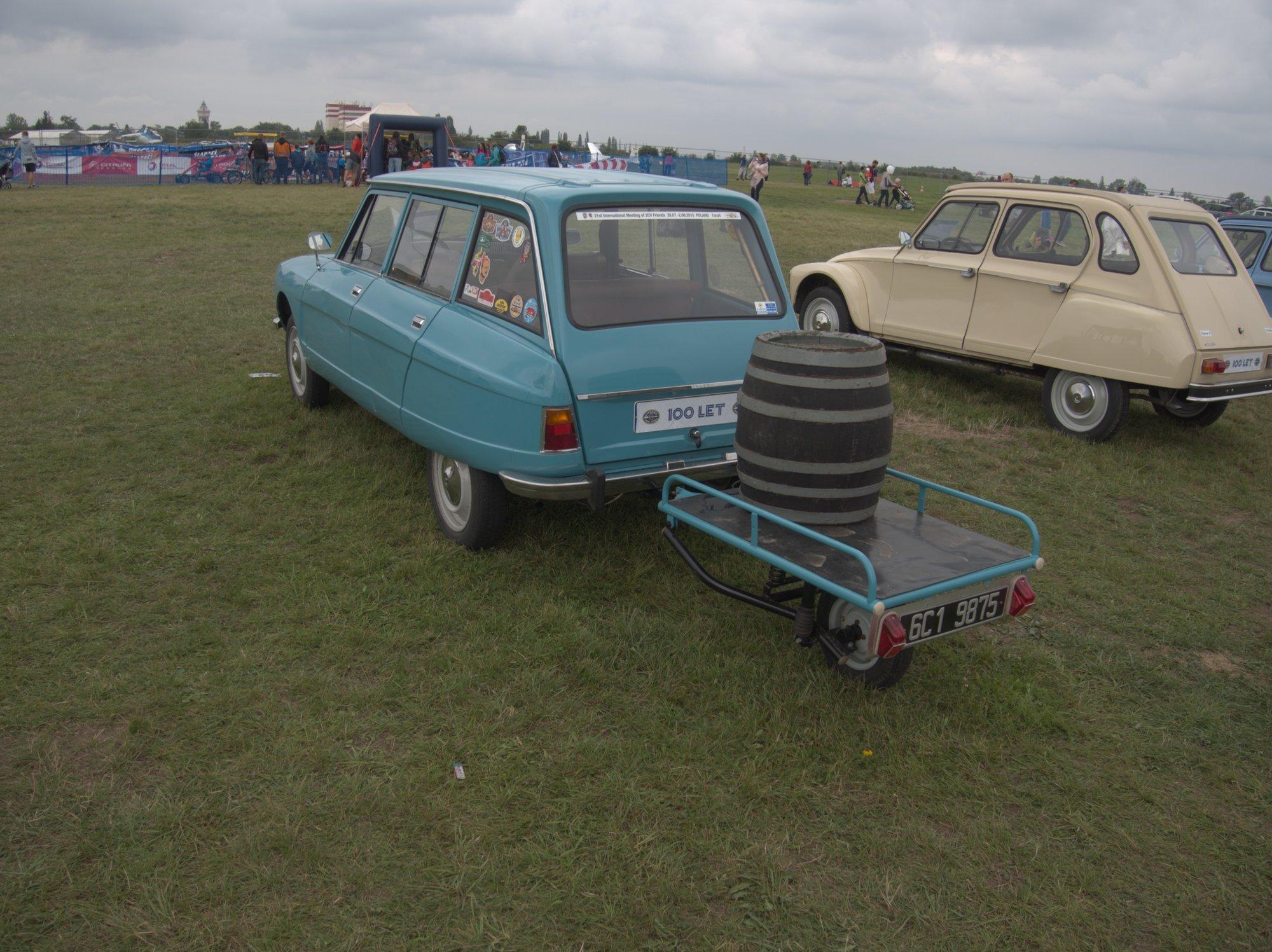 Citroën, Ami 8 s jednostopým vozíkem
