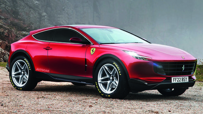Ferrari Purosangue tak, jak si jej představuje britský magazín Autocar