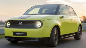 Honda e, digitální retro - anotační obrázek