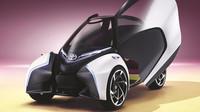 Koncept jednosedadlového městského vozu Toyota i-Tril má být v prodeji v roce 2030