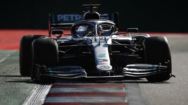 Lewis Hamilton se svým Mercedesem