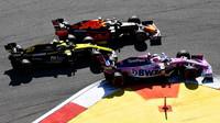Nico , Max Verstappen a Sergio Pérez v závodě v Soči