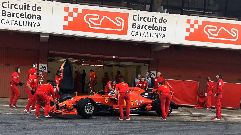 Sebastian Vettel při nedávném testu testu nových pneumatik pro rok 2020