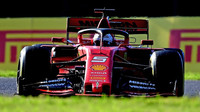 Sebastian Vettel v závodě v Japonsku