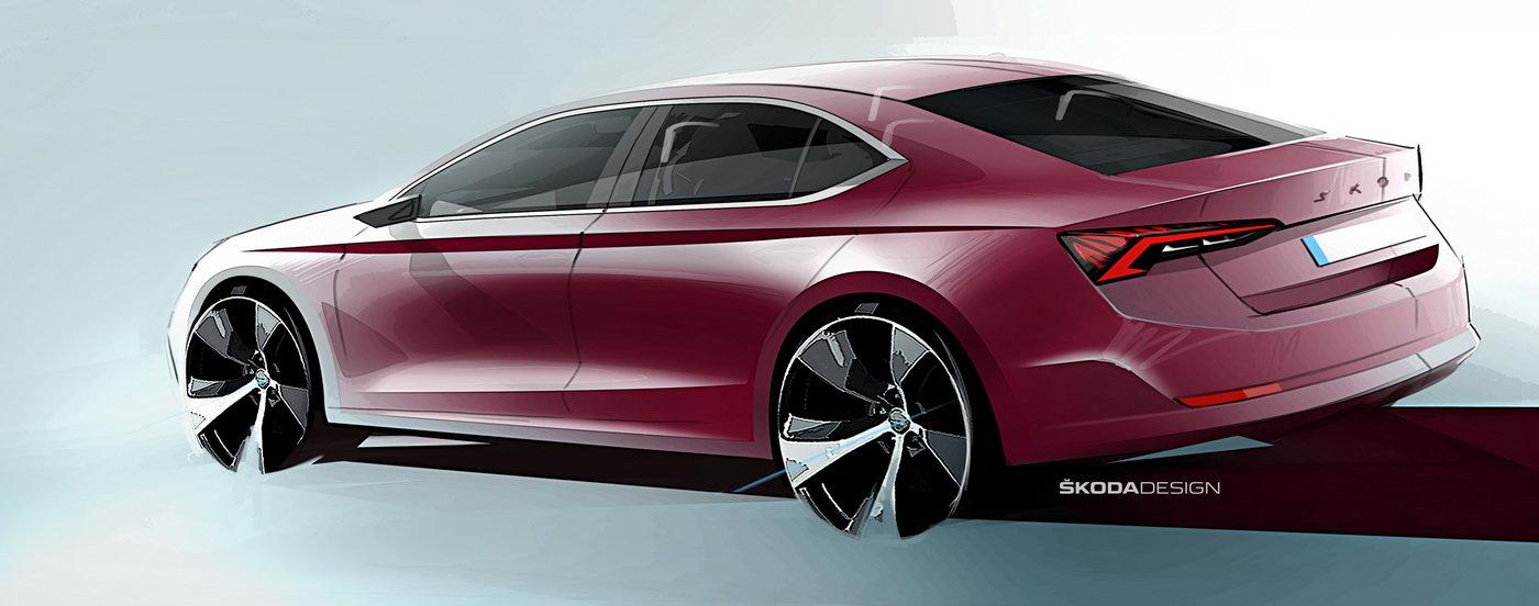 Škoda Octavia čtvrté generace: Takhle bude vypadat - anotační obrázek