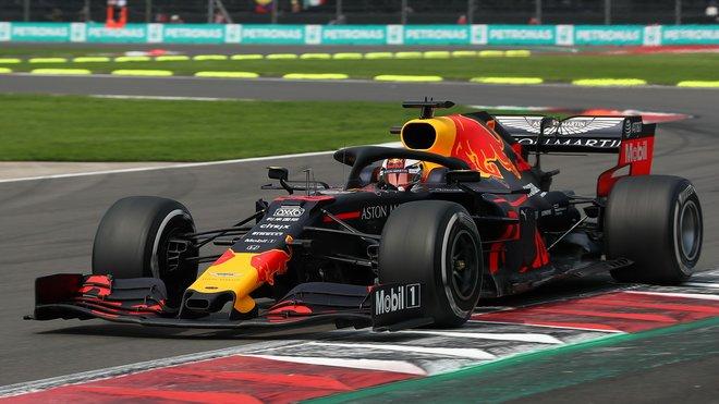 Max Verstappen s Red Bullem RB15 v Mexiku