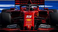 Sebastian Vettel v kvalifikaci v americkém Austinu