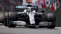 Lewis Hamilton ve Velké ceně Brazílie 2019