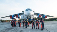 Zastávka Red Bullu na letišti po úspěšném pokusu
