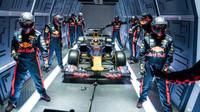 Zastávka Red Bullu ve stavu beztíže