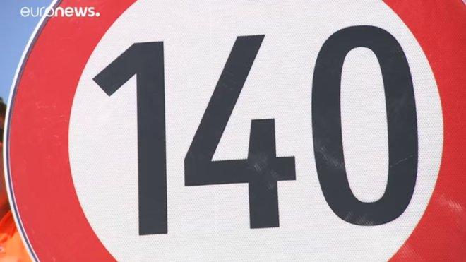 dálnice A1 s rychlostním omezením na 140 km/h