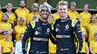 Daniel Ricciardo a Nico Hülkenberg v Abú Zabí