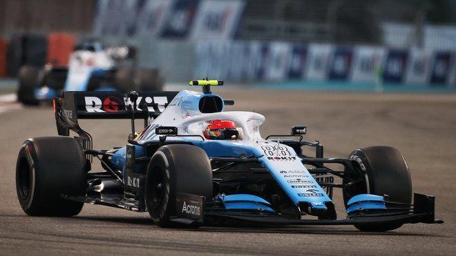 Robert Kubica v závodě v Abú Zabí