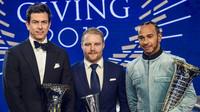 Slavnostní předávání cen za mistrovský titul v sezóně 2019 pro tým Mercedes