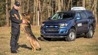 Ford Ranger Double Cab se speciální úpravou pro přepravu policejních psů