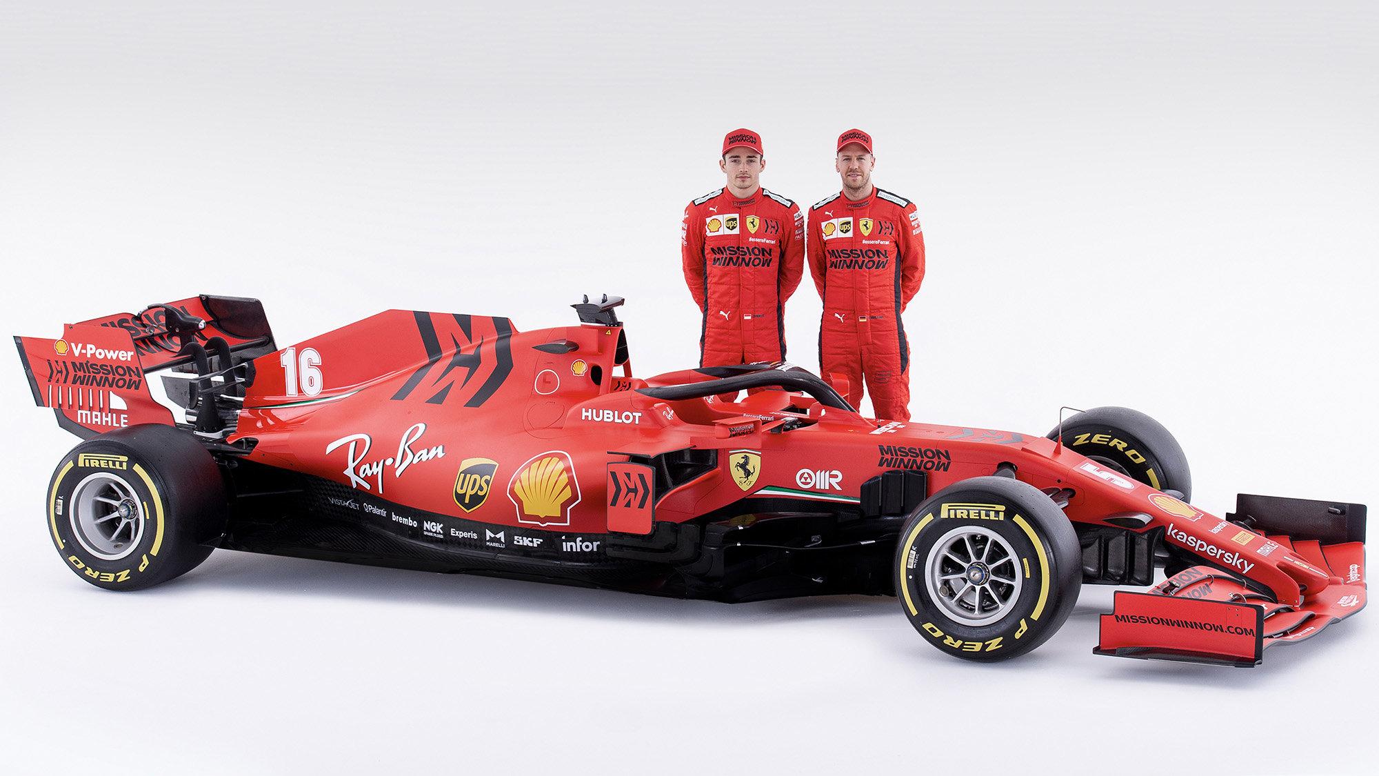 Charles Leclerc, Sebastian Vettel a nový vůz SF1000
