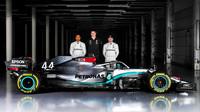 """""""Nový Mercedes má mnohem více přítlaku než loni, hodně se zvýšil i výkon motoru,"""" prozrazuje Allison - anotační foto"""