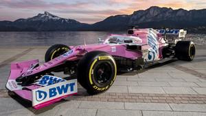 Racing Point odhaluje nový růžový vůz RP20 - anotační obrázek