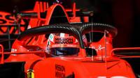 Charles Leclerc při předsezonních testech s vozem Ferrari SF1000 v Barceloně