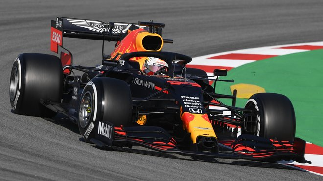 Max Verstappen pti testech s Red Bullem v Barceloně