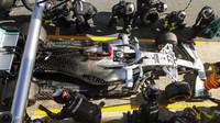 Valtteri Bottas v rámci druhého dne předsezonních testů v Barceloně