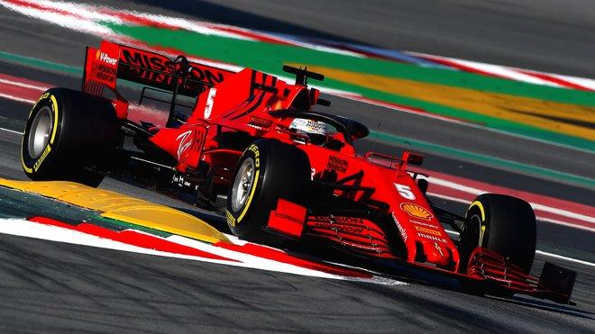Sebastian Vettel v Barceloně