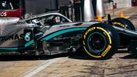 Valtteri Bottas v rámci třetího dne předsezonních testů v Barceloně