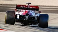 Kimi Räikkönen v rámci třetího dne druhých předsezonních testů v Barceloně