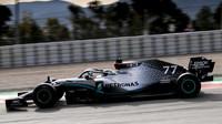 Valtteri Bottas v rámci druhého dne druhých předsezonních testů v Barceloně