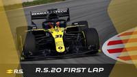 Závodní zbarvení Renaultu RS20
