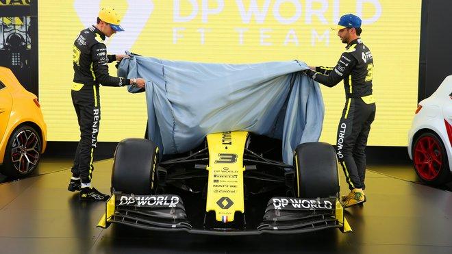 Ocon s Ricciardem odhalují vůz pro sezónu 2020